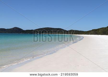 Whitehaven beach on Whitsunday Island Queensland Australia