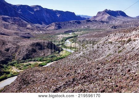 Big Bend Ranch State Park, USA, 2017.11.02: In the Big Bend Ranch State Park in the USA.