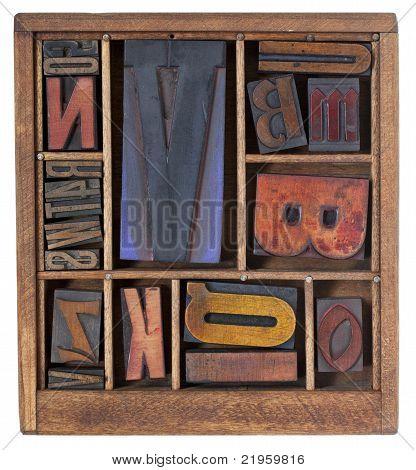 Antique Letterpress Printing Blocks