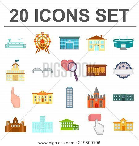 Building repair cartoon icons in set collection for design.Building material and tools vector symbol stock  illustration.