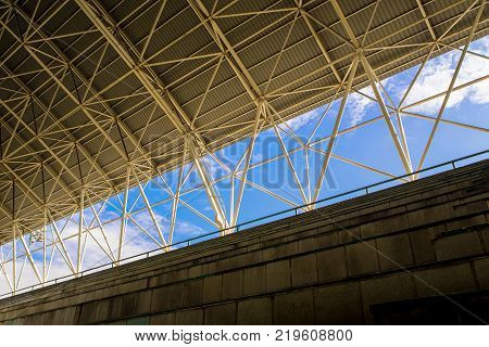 Space Between The Grandstand And Roof