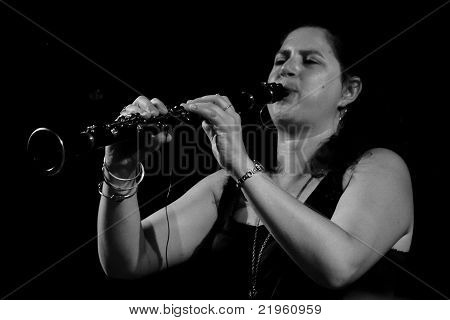 Anat Cohen  On Stage At Umbria Jazz Festival In Perugia, Italy