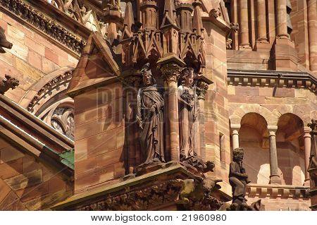 Sculptures Of Cathédrale Notre-dame De Strasbourg, France