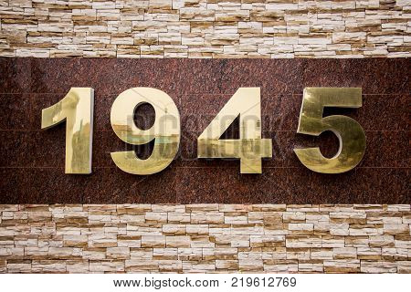 1945. One thousand nine hundred and forty-five. The date of the end of the Second World War.