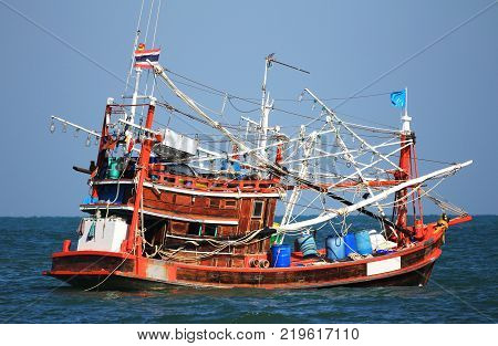 Generic Squid Fishing Boat Ship of Thailand