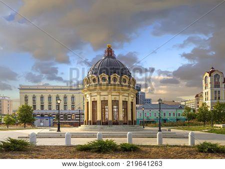 Rotunda on the Petersburg street. Kazan. Tatarstan. Russia