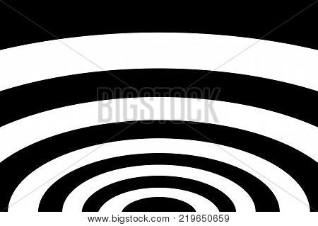 Abstract striped concentric - black and white background , Ellipse pattern