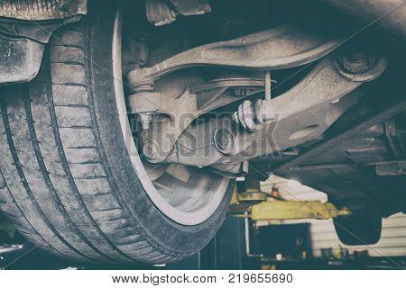 Car service, Nobody. Repairing of vehicle suspension