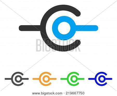 Wire Connection icon. Vector illustration style is a flat iconic wire connection symbol with gray, green, blue, yellow color variants. Designed for web and software interfaces.