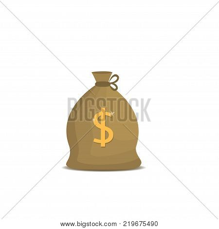 Money bag with dollar symbol. Sack with cash