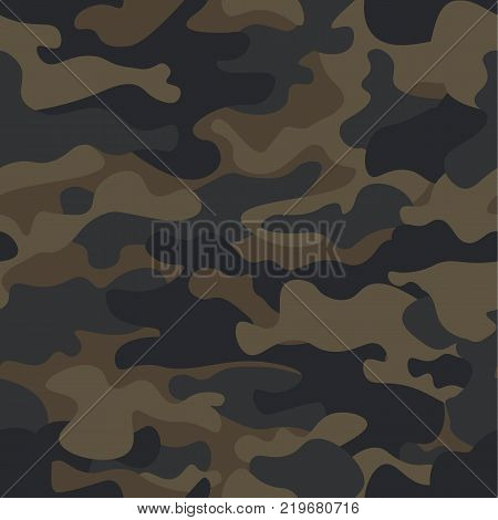 Mountain Seamless Camouflage Pattern with abstract lines for Army Clothing and apparels. Camouflage pattern background seamless vector illustration. Abstract Vector Military Camo Background