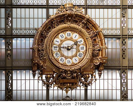 Golden Clock Of The Museum D'orsay