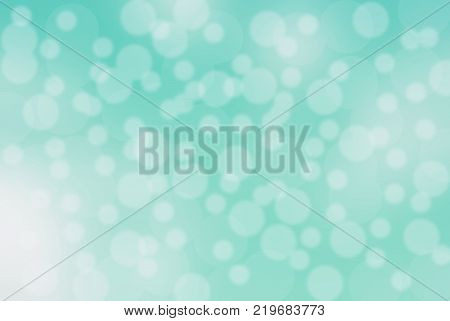 bokeh background in green ocean light soft , circle shape soft with white soft.
