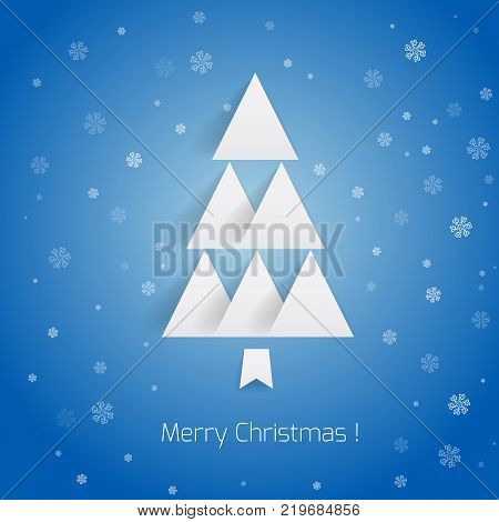 Christmas tree for business congratulation and vector illustration