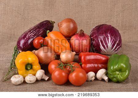 Harvest of vegetables. Food market. Harvesting. Vegetable vegetables. Fresh vegetables.
