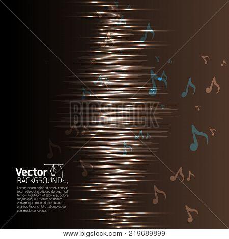Equalizer music background, Technology equalizer recording and vector illustration