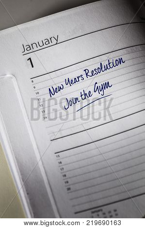 New Years Resolution in the diary, Join the Gym