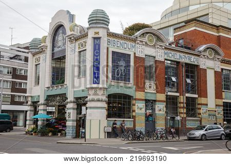 LONDON, UK - JUNE 17, 2013: Michelin House, the first permanent UK headquarters and tyre depot for the Michelin Tyre Company Ltd in London