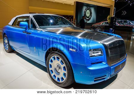 Rolls-Royce Phantom at Paris Auto Motor Show. Paris, France - October 5, 2014.