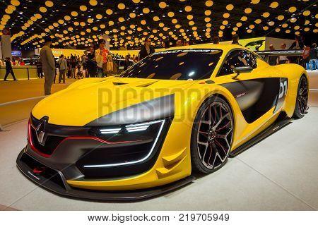 Renault Sport RS 01 concept at Paris Auto Motor Show. Paris, France - October 5, 2014.