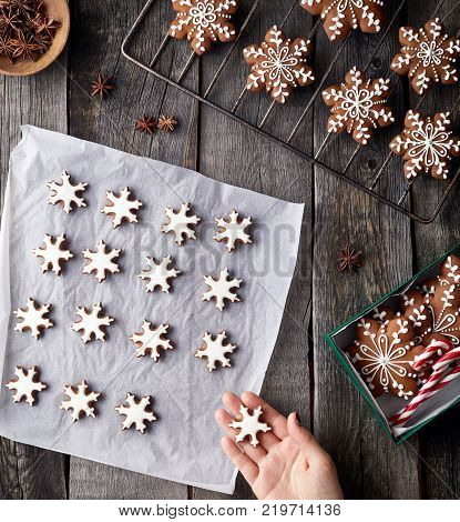 Christmas Gingerbread Stars In The Box