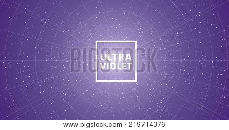 abstract ultra violet background with stars vector