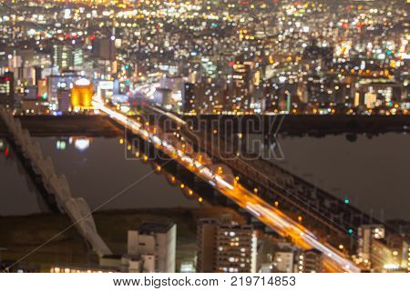 Blur Osaka Nightscape from Umeda Sky Building