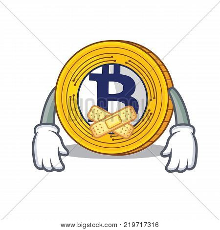 Silent Bitcoin Gold character cartoon vector illustration
