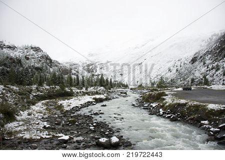 Kaunertal Glacier At Ferner Garten In Kaunergrat Nature Park In The Alps At Northern Italy And Weste