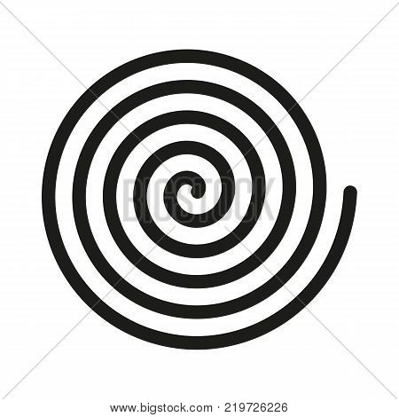 Spiral icon. Helix and scroll, gyre, curl, loop symbol. Flat design. Stock - Vector illustration