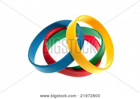 4 Rubber Bracelets