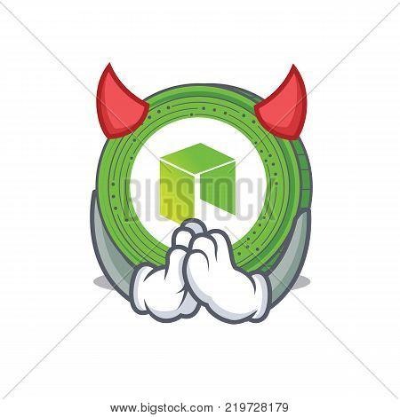 Devil NEO coin character cartoon vector illustration