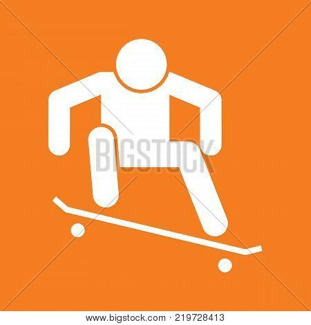 Skateboard Ollie Sport Figure Symbol Vector Illustration Graphic Design