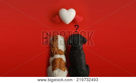 Flat view of blank notepads in the centre of valentines hearts on color background with copy space. Symbol of love. Happy Valentines Day background.Saint Valentine's Day concept. Can be used for celebrations valentines day.