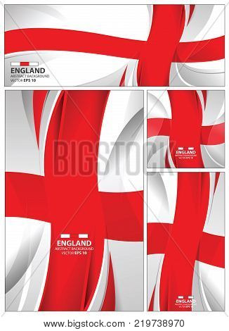England flag abstract colors background. Collection banner design. brochure vector illustration.