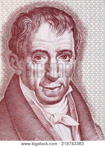 Adamandios Korais portrait from Greek money - Drachma