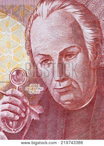 Jose Celestino Mutis portrait from Spanish money