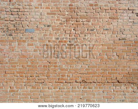 Brick Wall Texture, Brick Wall Background, Brick Wall For Interior Or Exterior Design With Copy Spac