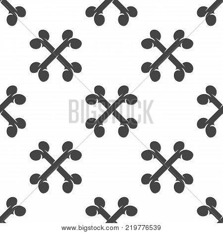 Crossbones seamless pattern. Vector illustration for backgrounds