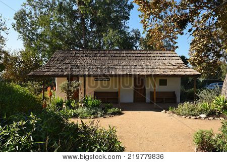 San Juan Capistrano Ca - December 1 2017: On the National Historic Register it was the home of Dona Polonia Montanez. Religious services were held during a period when the mission was inoperative.