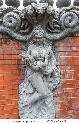 Sculpture And Carving Statue Of Angel. Creatures Of Myth And Legend.