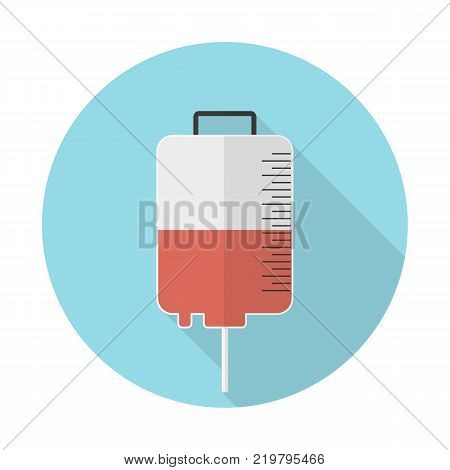 Dropper for blood transfusion color flat icon for web and mobile design, Vector illustration