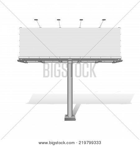 Advertising construction for outdoor advertising big billboard. Vector billboard for your design.