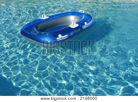 Blue Pool Toy Boat