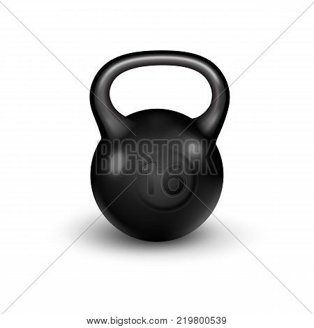 Sport kettlebell, isolated on white background. Template for your design.