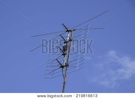 All-wave inphase antenna lattice. The television antenna for reception of radio TV of a signal.