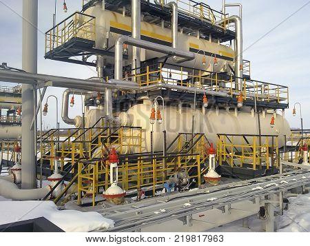 Separator. Equipment for oil separation. Modular oil treatment unit. Bulite for separation