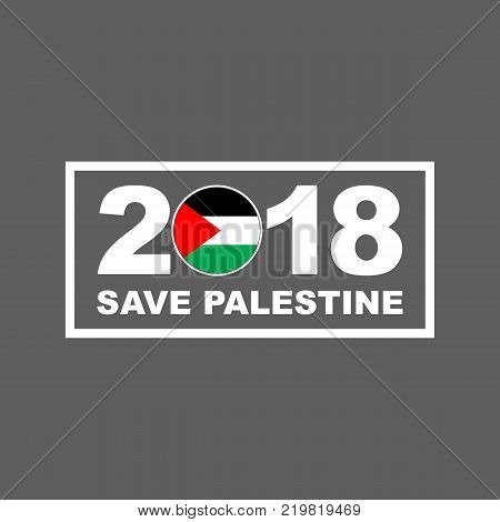 2018 Happy New Year Palestine vector template for greeting card calendars 2018 seasonal flyers christmas invitations and other.