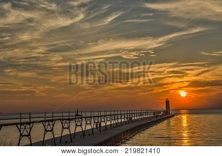 Manistee's catwalk which is one of only five on the east coast of Lake Michigan was transferred to the City of Manistee in January 1990 and refurbished in the early 1990s through a