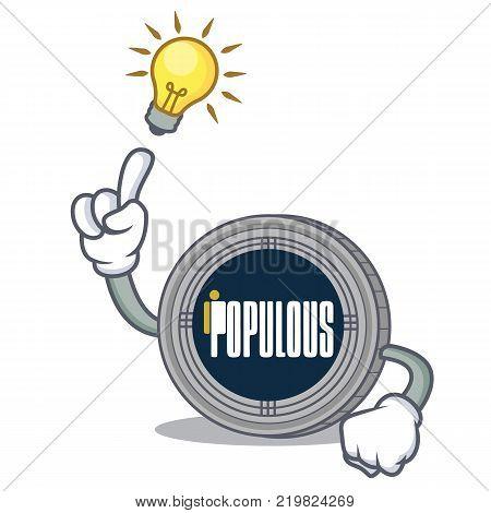 Have an idea populous coin character cartoon vector illustration